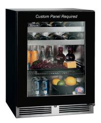 Brand: PERLICK, Model: HA24BB3X, Style: Panel Ready-Glass, Left-Hand Door Swing