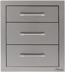 Brand: Alfresco, Model: AXE3DR, Style: 17-Inch Triple Access Drawer