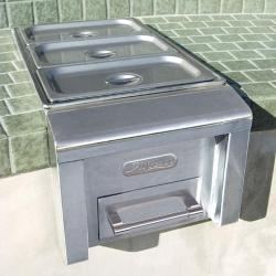 Brand: Alfresco, Model: AXEFWC, Style: Food Warmer & Steam Table On Cart