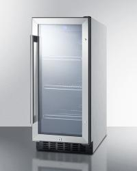 Brand: SUMMIT, Model: SCR1536BG1, Color: Stainless Steel Cabinet Finish