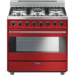 Brand: SMEG, Model: C36GGNU, Color: Red