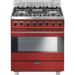 Brand: SMEG, Model: C30GGXU1, Color: Red