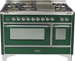 Brand: Ilve, Model: UM120FDMPMX, Color: Emerald Green with Chrome Trim