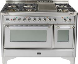 Brand: Ilve, Model: UM120FDMPMX, Color: Stainless Steel with Chrome Trim