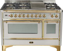 Brand: Ilve, Model: UM120FDMPMX, Color: Stainless Steel with Brass Trim