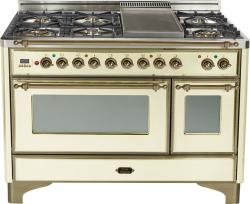 Brand: Ilve, Model: UM120FDMPBY, Color: Antique White with Oiled Bronze Trim