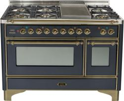 Brand: Ilve, Model: UM120FDMPBY, Color: Matte Graphite with Oiled Bronze Trim
