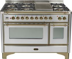 Brand: Ilve, Model: UM120FDMPBY, Color: Stainless Steel with Oiled Bronze Trim