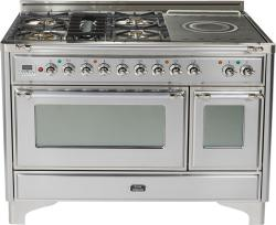 Brand: Ilve, Model: UM120SDMPRBX, Color: Stainless Steel with Chrome Trim