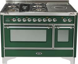 Brand: Ilve, Model: UM120SDMPRBX, Color: Emerald Green with Chrome