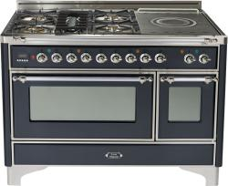 Brand: Ilve, Model: UM120SDMPRBX, Color: Matte Graphite with Chrome Trim