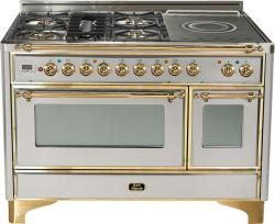 Brand: Ilve, Model: UM120SDMPRBX, Color: Stainless Steel with Brass Trim
