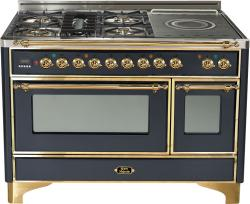 Brand: Ilve, Model: UM120SDMPRBX, Color: Matte Graphite with Brass Trim