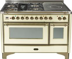 Brand: Ilve, Model: UM120SDMPMX, Color: Antique White with Oiled Bronze Trim