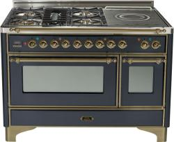 Brand: Ilve, Model: UM120SDMPMX, Color: Matte Graphite with Oiled Bronze Trim