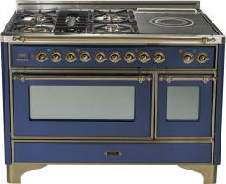 Brand: Ilve, Model: UM120SDMPMX, Color: Midnight Blue with Oiled Bronze Trim