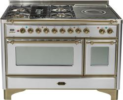 Brand: Ilve, Model: UM120SDMPMX, Color: Stainless Steel with Oiled Bronze Trim
