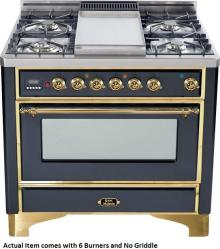 Brand: Ilve, Model: UM906DMPBY, Color: Matte Graphite with Brass Trim