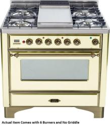 Brand: Ilve, Model: UM906DMPBY, Color: Antique White with Oiled Bronze Trim