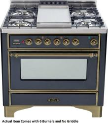 Brand: Ilve, Model: UM906DMPBY, Color: Matte Graphite with Oiled Bronze Trim