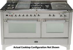 Brand: Ilve, Model: UM150SDMPMX, Color: Stainless Steel with Chrome Trim