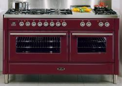 Brand: Ilve, Model: UMT150FDMP, Style: 60 Inch Freestanding Dual-Fuel Range