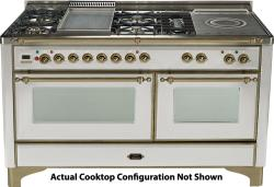 Brand: Ilve, Model: UM150SDMPMX, Color: Stainless Steel with Oiled Bronze Trim