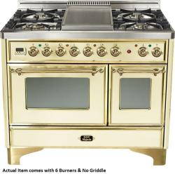 Brand: Ilve, Model: UMD100SDMPVSY, Color: Antique White with Brass Trim