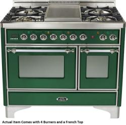 Brand: Ilve, Model: UMD100SDMPVSY, Color: Emerald Green with Chrome Trim