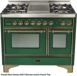 Brand: Ilve, Model: UMD100SDMPVSY, Color: Emerald Green with Oiled Bronze Trim