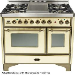 Brand: Ilve, Model: UMD100SDMPVSY, Color: Antique White with Oiled Bronze Trim