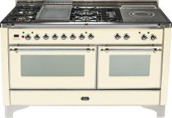 Brand: Ilve, Model: UM150FSDMPM, Color: Antique White with Chrome Trim