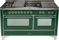 Brand: Ilve, Model: UM150FSDMPM, Color: Emerald Green with Chrome Trim