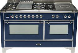Brand: Ilve, Model: UM150FSDMPM, Color: Midnight Blue with Chrome Trim