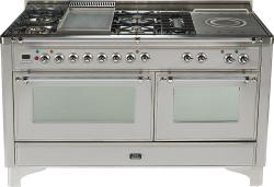 Brand: Ilve, Model: UM150FSDMPM, Color: Stainless Steel with Chrome Trim