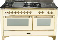 Brand: Ilve, Model: UM150FSDMPM, Color: Antique White with Brass Trim