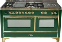 Brand: Ilve, Model: UM150FSDMPM, Color: Emerald Green with Brass Trim