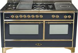Brand: Ilve, Model: UM150FSDMPM, Color: Matte Graphite with Brass Trim