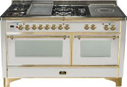Brand: Ilve, Model: UM150FSDMPM, Color: Stainless Steel with Brass Trim