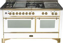 Brand: Ilve, Model: UM150FSDMPM, Color: True White with Brass Trim