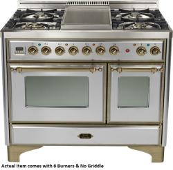 Brand: Ilve, Model: UMD1006DMPIY, Color: Stainless Steel with Oiled Bronze Trim