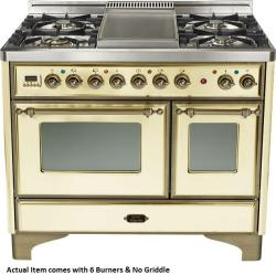 Brand: Ilve, Model: UMD1006DMPIY, Color: Antique White with Oiled Bronze Trim