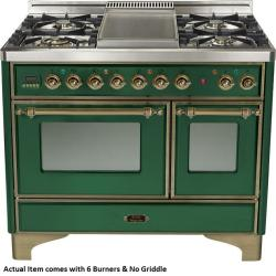 Brand: Ilve, Model: UMD1006DMPIY, Color: Emerald Green with Oiled Bronze Trim