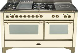 Brand: Ilve, Model: UM150FSDMPM, Color: Antique White with Oiled Bronze Trim