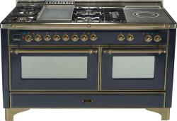 Brand: Ilve, Model: UM150FSDMPM, Color: Matte Graphite with Oiled Bronze Trim