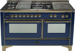 Brand: Ilve, Model: UM150FSDMPM, Color: Midnight Blue with Oiled Bronze Trim