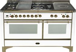 Brand: Ilve, Model: UM150FSDMPM, Color: True White with Oiled Bronze Trim