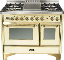 Brand: Ilve, Model: UMD100FDMPI, Color: Antique White with Brass Trim