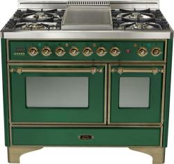 Brand: Ilve, Model: UMD100FDMPRB, Color: Emerald Green with Oiled Bronze Trim