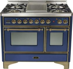 Brand: Ilve, Model: UMD100FDMPRB, Color: Midnight Blue with Oiled Bronze Trim